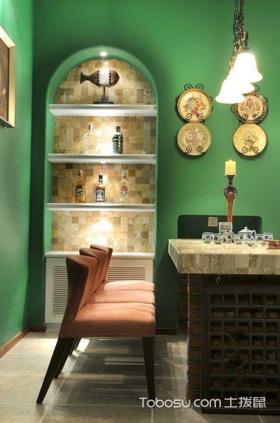 创意混搭复古雅致一居室装潢案例_装修图片