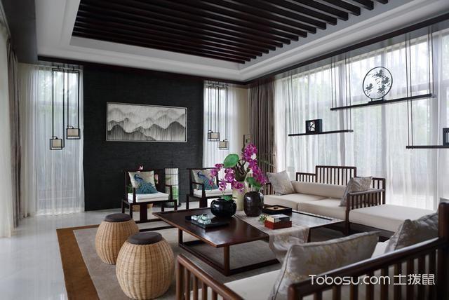 别墅设计成新中式风格非常有意境_装修图片