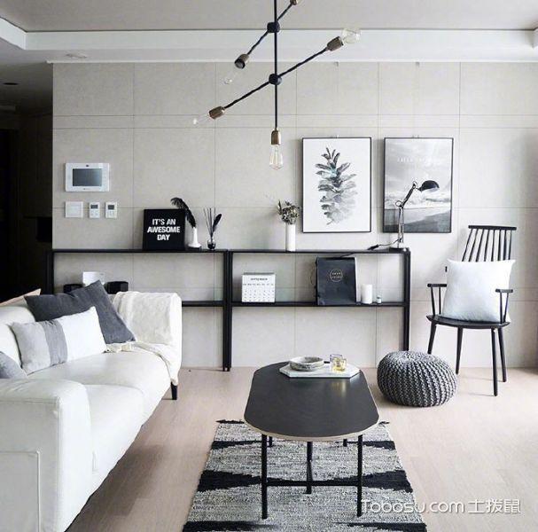 公寓100平米简约风格构造图