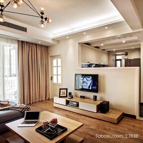 北欧风格三居室温馨90平米设计图_装修图片