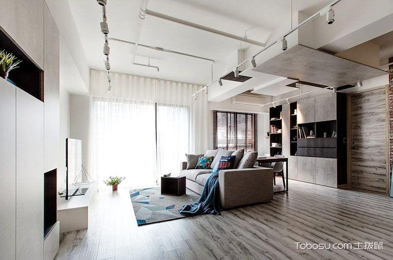 89平米公寓简约风格室内装修图片
