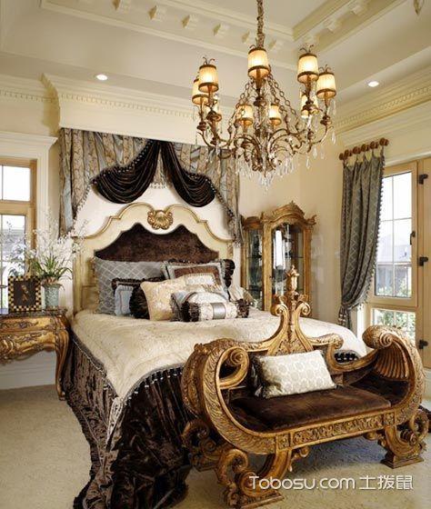9个宫廷风卧室设计_装修图片