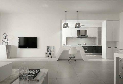 眩亮灰色客厅装饰实景图片