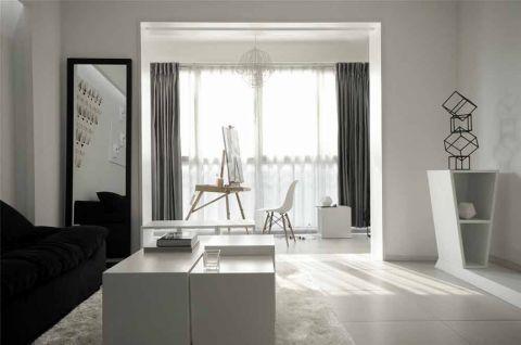 完美简约灰色窗帘设计图欣赏