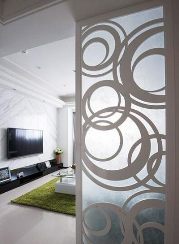 现代简约客厅隔断设计方案