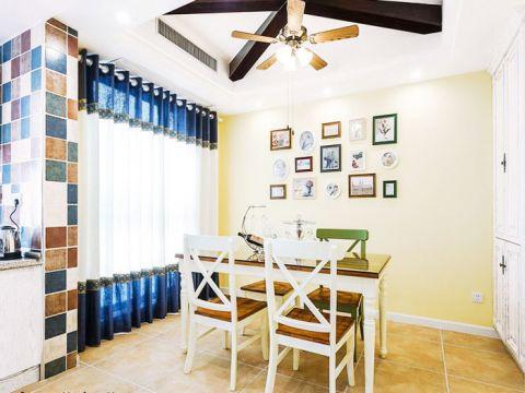 餐厅黄色照片墙装潢设计图片