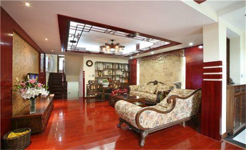 新中式客厅地砖装修图片