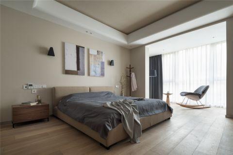 卧室米色背景墙装饰图片
