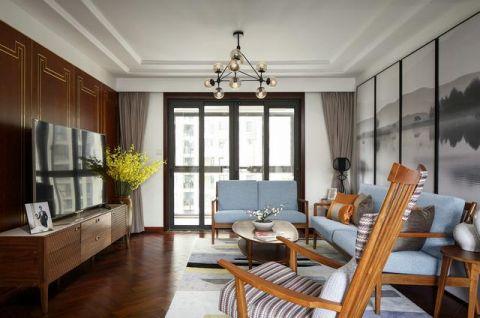 2020新中式客厅装修设计 2020新中式窗帘装修效果图片