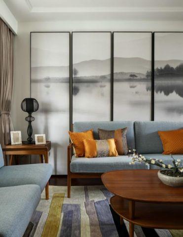 2020新中式客厅装修设计 2020新中式背景墙图片