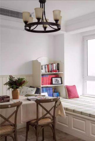 设计优雅卧室美式装潢实景图