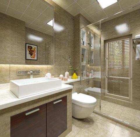 精美绝伦白色卫生间装饰实景图