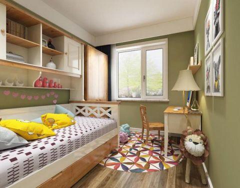 北欧儿童房背景墙装饰效果图