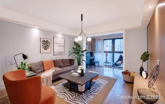 二居室99平米现代简约风格设计图