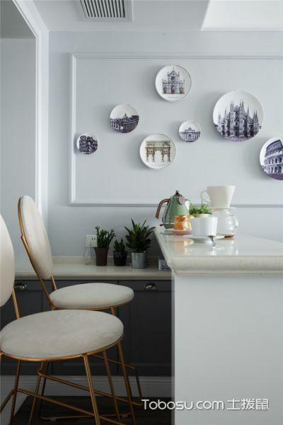 92平米清新小美式风格家居装修案例_装修图片