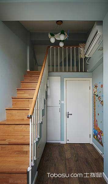 90平现代清新二居装修设计_装修图片