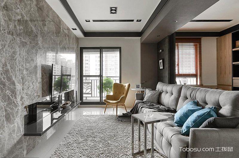 现代简约风格小户型81平米室内装饰