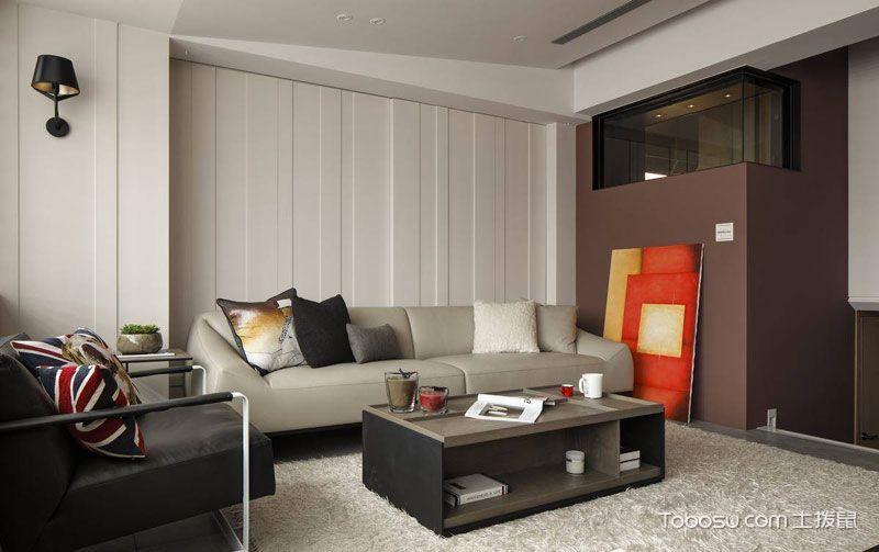 小户型90平米现代风格室内效果图