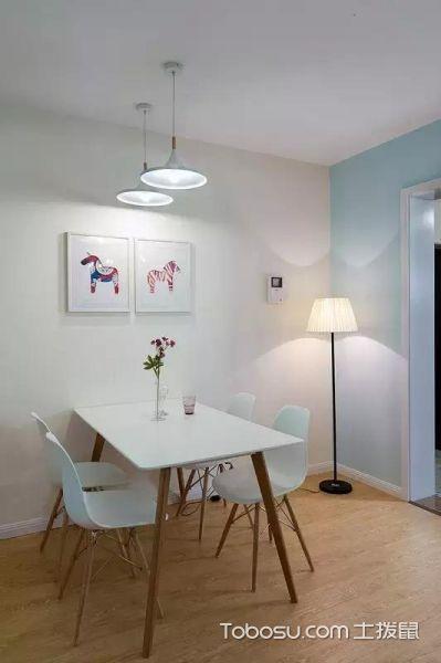 90平清新格调的三室两厅_装修图片