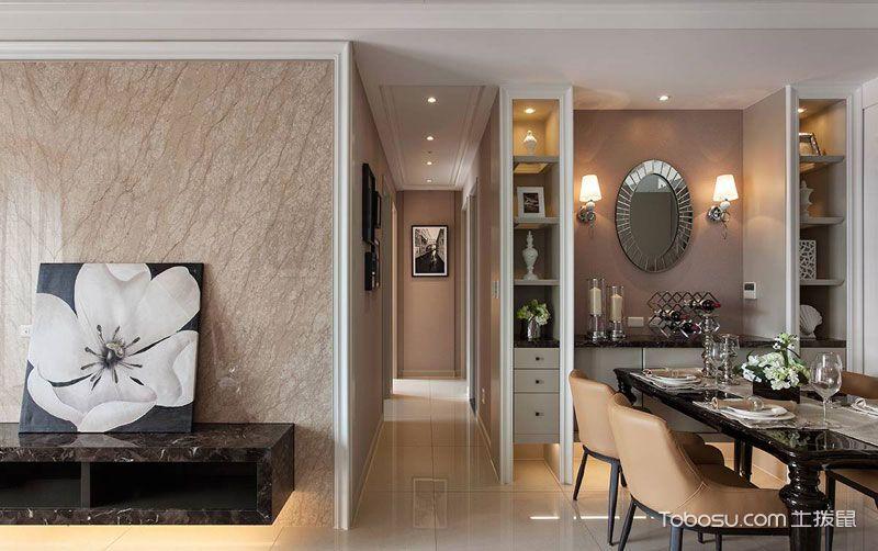 90平欧式三居装修设计_装修图片