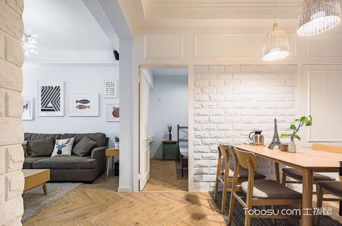 90平两居室北欧,白色恋人_装修图片
