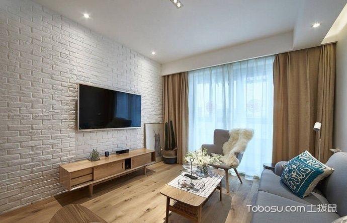 2020宜家客厅装修设计 2020宜家电视柜装修效果图片