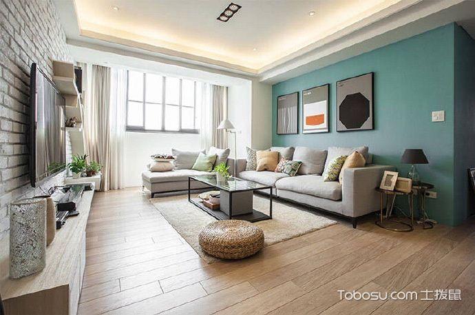 北欧风格小户型107平米室内装饰