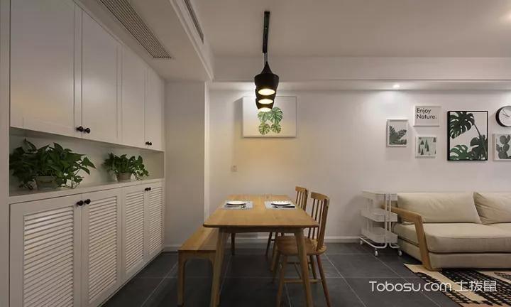 2019北欧餐厅效果图 2019北欧餐桌装修图片