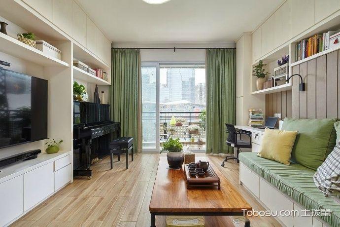 2019现代客厅装修设计 2019现代窗帘装修效果图片