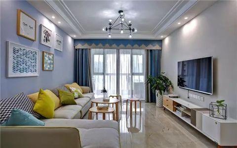 二居室109平米现代简约风格室内效果图