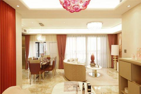 104平米公寓法式风格室内装修设计
