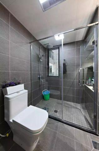 卫生间灰色背景墙效果图图片