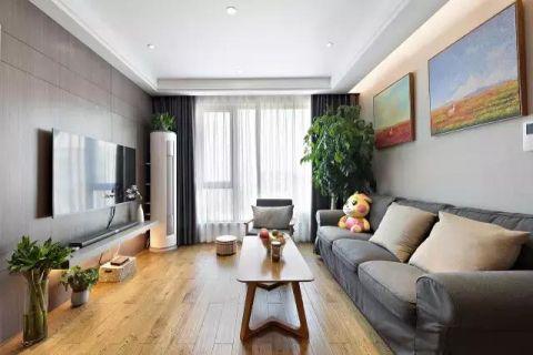 写意现代简约灰色沙发装修美图