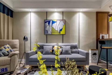 独具一格黄色客厅装饰图