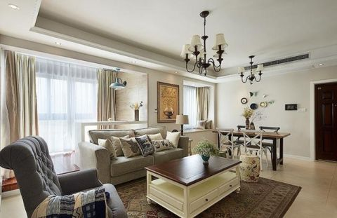 美式客厅沙发室内装饰