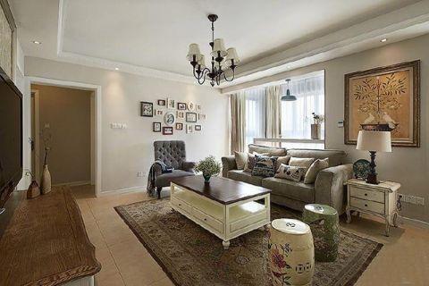 高贵风雅灰色客厅装修实景图片