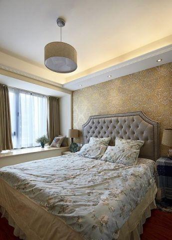卧室灰色床装修设计图片