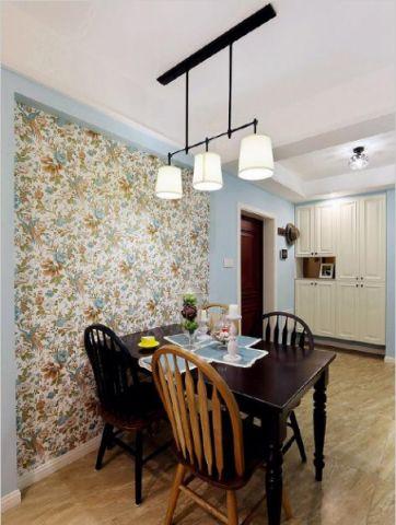 简单大气美式彩色背景墙室内效果图