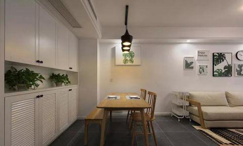 豪华原木色餐桌装修效果图欣赏