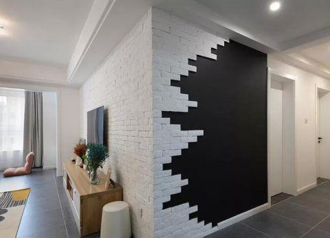 客厅黑白背景墙实景图