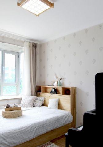 简约白色卧室图片