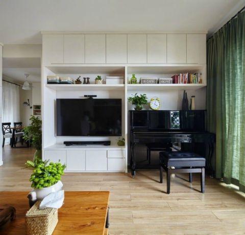 古朴米色电视柜案例图片