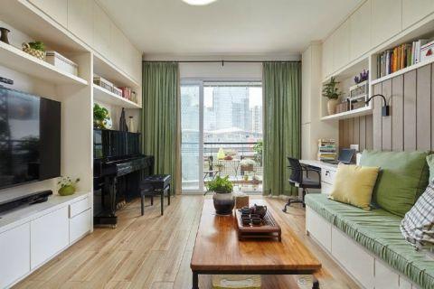 高贵风雅绿色客厅效果图大全