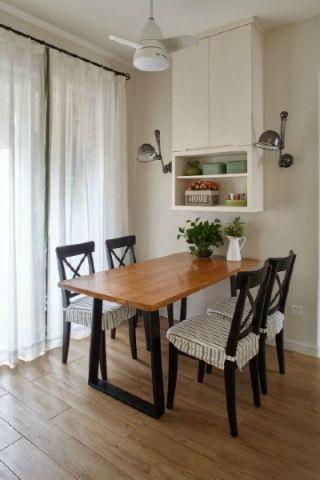 温馨餐厅餐桌装潢设计图片