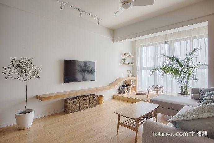 88平米日式原木家装_装修图片