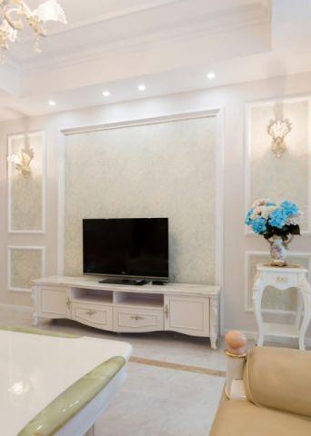 2019欧式客厅装修设计 2019欧式电视柜装修效果图片