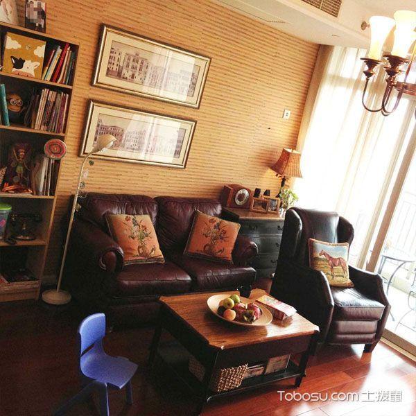 85平美式二居装修设计_装修图片