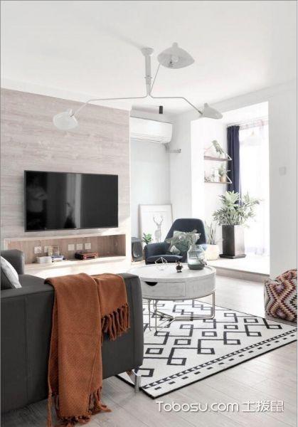 82平简约北欧风格二居室_装修图片
