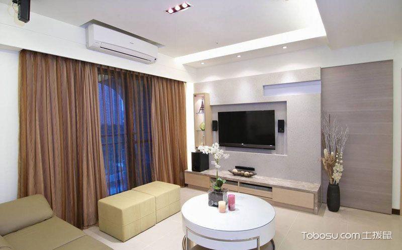 小户型114平米现代风格室内效果图