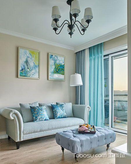109平米小戶型美式風格室內裝修設計